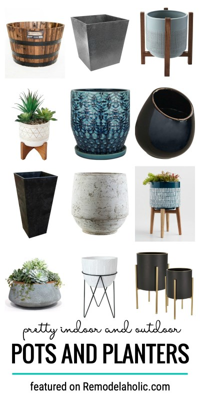 Pretty Indoor And Outdoor Pots And Planters To Help You Decorate Your Home With Plants Featured On Remodelaholic.com