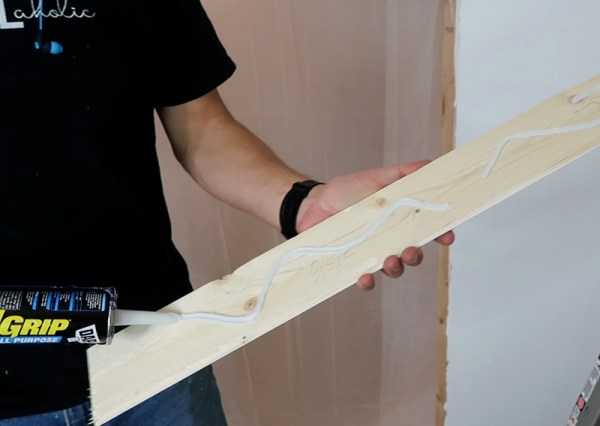 Installing Whitewashed Boards On Ceiling Glueing Boards