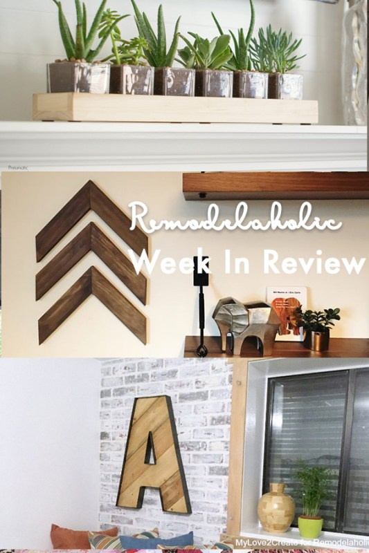 (4.15.2018) Weekly Digest #15 Easy DIY Wooden Arrow, A Long Wood And Glass Planter Centerpiece + 4 Reclaimed And Scrap Wood Projects