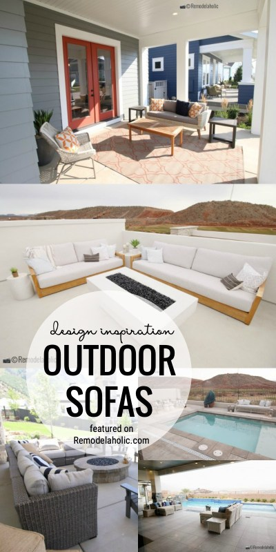 Design Inspiration For Outdoor Sofas For Your Porch And Patio. Plus, Where To Buy Featured On Remodelaholic.com