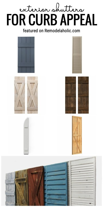 Exterior Shutters For Curb Appeal Featured On Remodelaholic.com