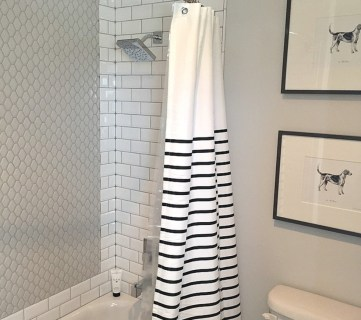 Remodelaholic On Instagram White And Black Bathroom
