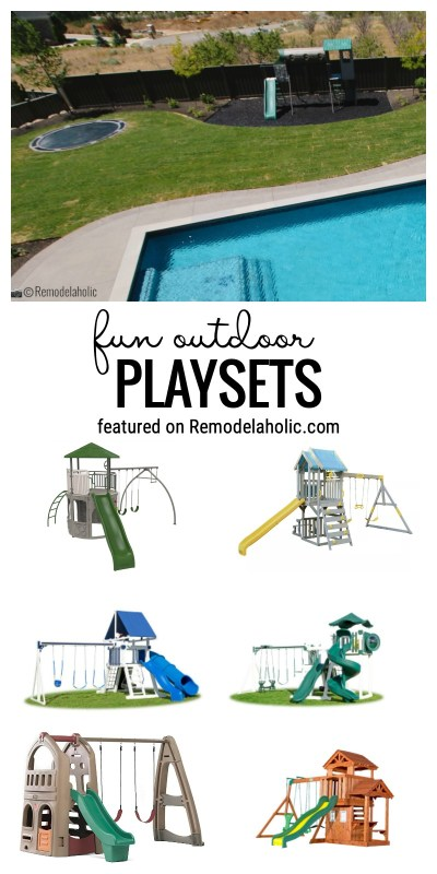 Spend Time Outside With One Of These Awesome And Fun Outdoor Playsets Featured On Remodelaholic.com