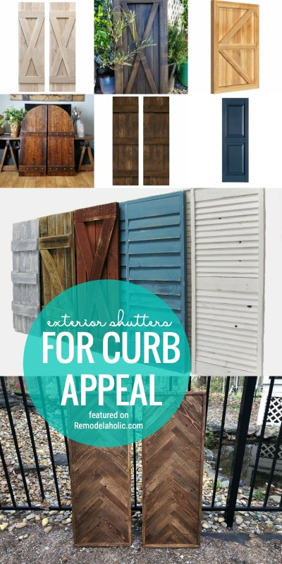Spruce Up Your Exterior With An Easy Fix! Add Exterior Shutters For Curb Appeal With Our Tips Featured On Remodelaholic.com