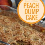 Easy Peach Dump Cake Recipe, Simple Cobbler Copycat #remodelaholic