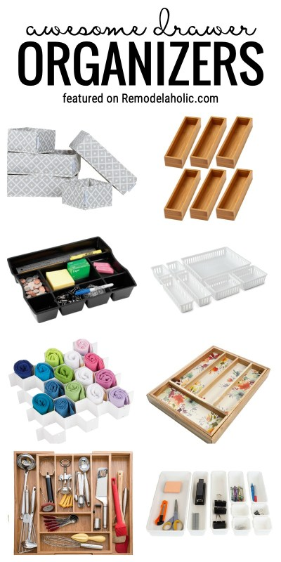 It's Time To Get Those Drawers Organized With Our Favorite Awesome Drawer Organizers Featured On Remodelaholic.com