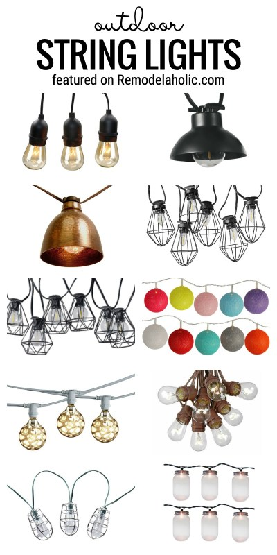 Lots Of Fun Ideas For Outdoor String Lights To Decorate Your Pergola, Deck, Patio, Fire Pit, Or Porch Featured On Remodelaholic.com