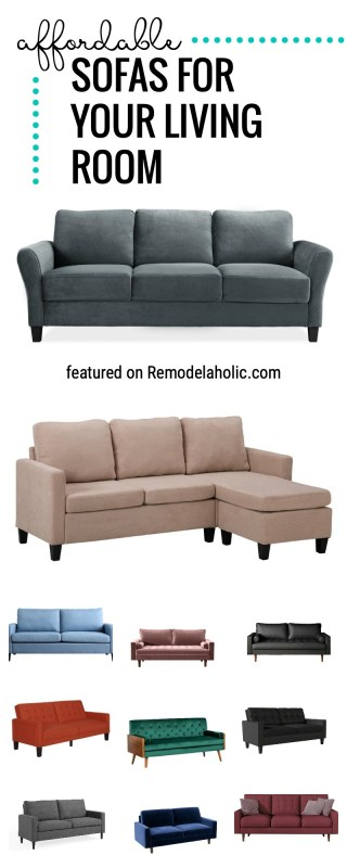 Find An Affordable Sofa For Your Living Room!! We Are Sharing Our Favorite Beautiful Affordable Sofas And Where To Buy Them Featured On Remodelaholic.com