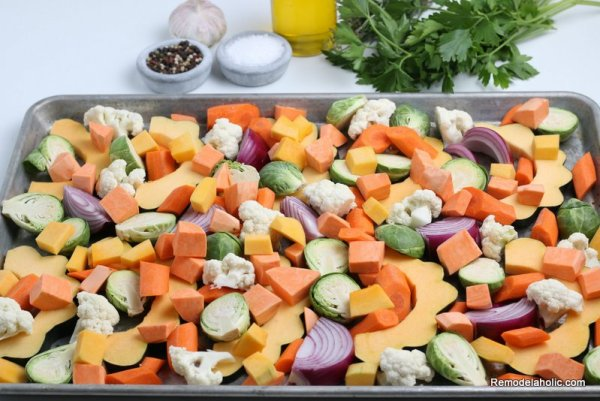 How To Roast Fall Vegetables And Squash In The Oven Remodelaholic