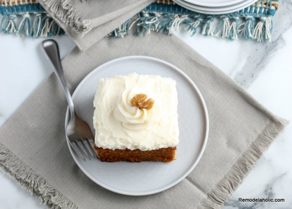 Easy Pumpkin Cake Recipe With Cream Cheese Frosting Remodelaholic