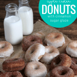 Homemade From Scratch Apple Cider Donuts With Cinnamon Sugar Glaze, Remodelaholic