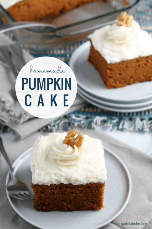 Homemade Pumpkin Cake Recipe From Scratch, Remodelaholic