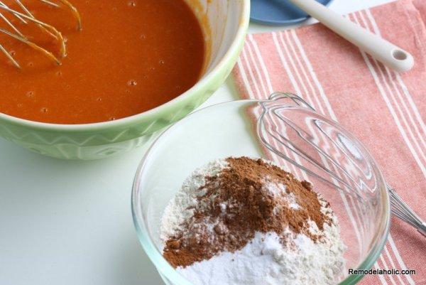 Pumpkin Cake Recipe Sift Flour, Salt, Bk Soda, Cinnamon, Pumpkin Pie Spice Remodelaholic