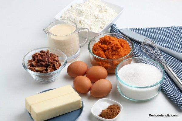Pumpkin Dump Cake Ingredients For Pumpkin Spice Cake Remodelaholic