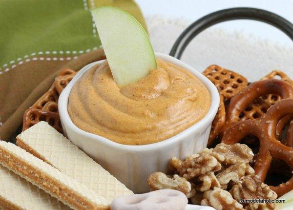 Sweet Pumpkin Dip Recipe For Apples And Pretzels, Remodelaholic