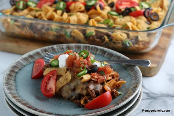 How to make Frito Pie Casserole, from Remodelaholic