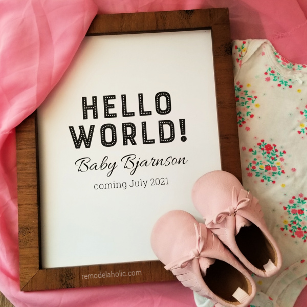 Easy Printable Pregnancy Announcement, Editable PDF Download Remodelaholic