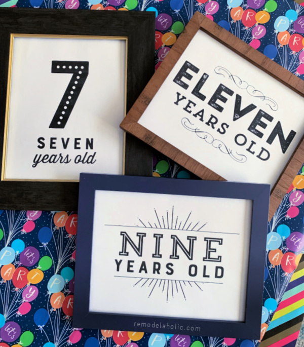 Printable Birthday Photo Signs For Easy Picture Props, Remodelaholic