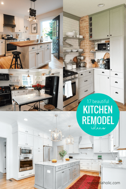 17 Beautiful Kitchen Remodel Ideas For Large And Small Kitchens With Before And After Pictures, Remodelaholic