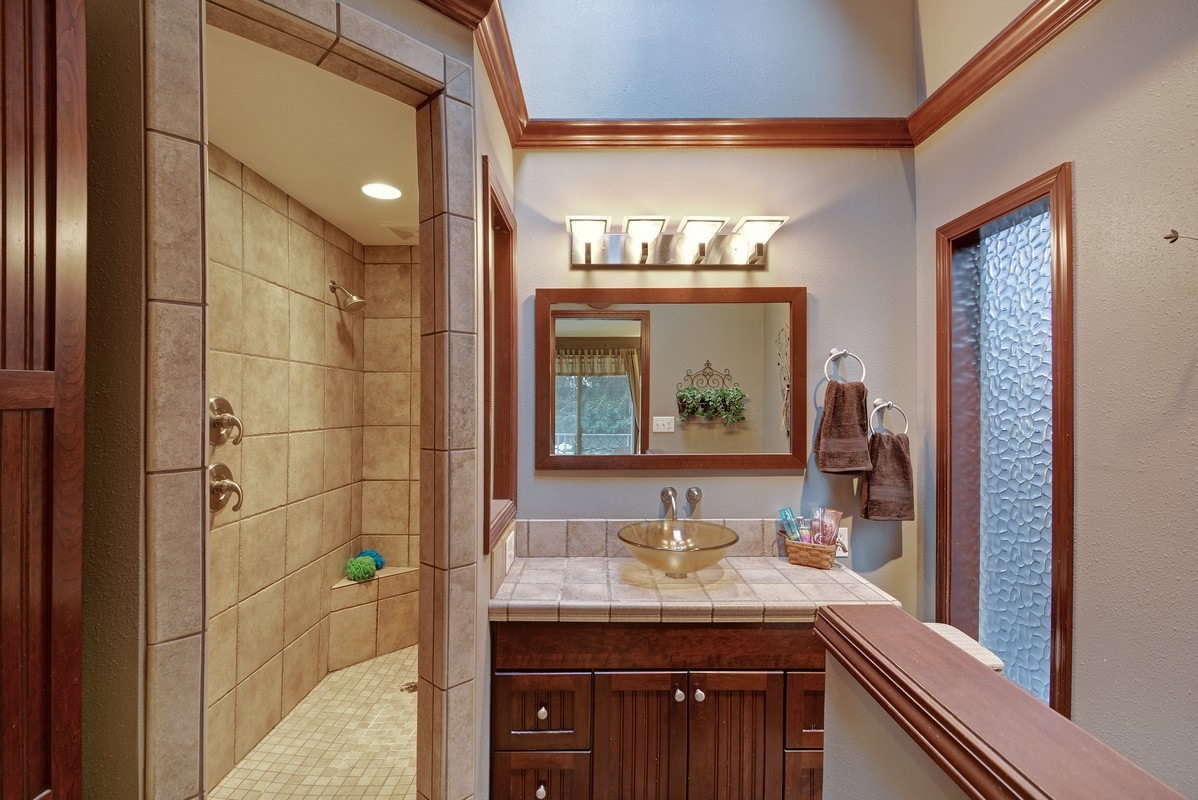 Reaching The Greatest Basement Bathroom Remodel Concepts finished-basement-bath