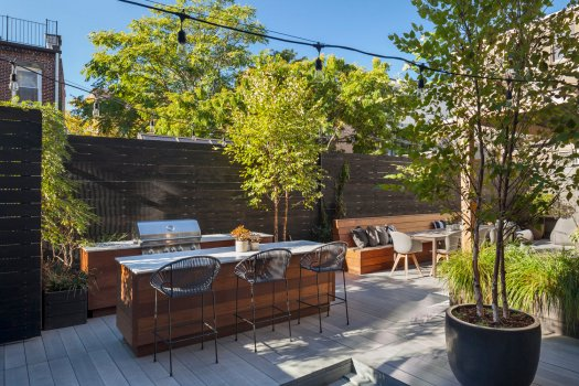 Outdoor kitchen design Brooklyn NYC