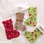 DIY Beaded Retro Glam Christmas Stockings