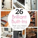 Big Post of 26 Amazing Built-Ins