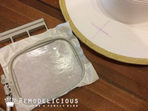 DIY Monogram a Straw Hat for Summer - A DIY at-home machine embroidery monogram! | Remodelicious