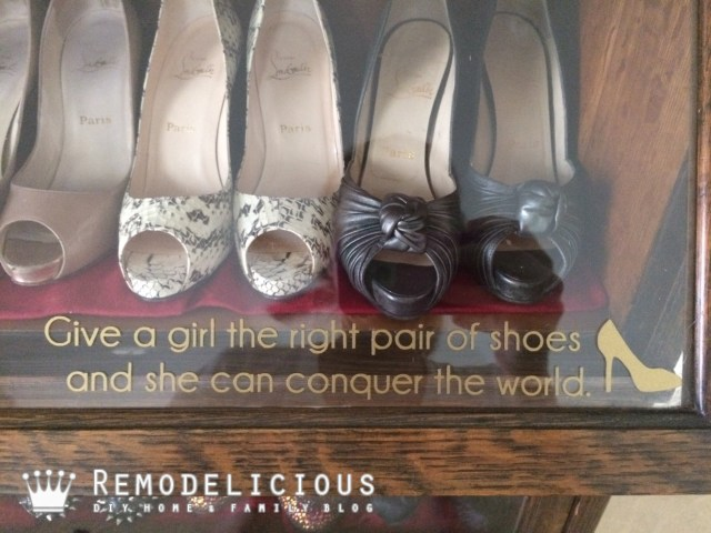 Lawyer's Bookcase as Shoe Display & Storage | Remodelicious.com