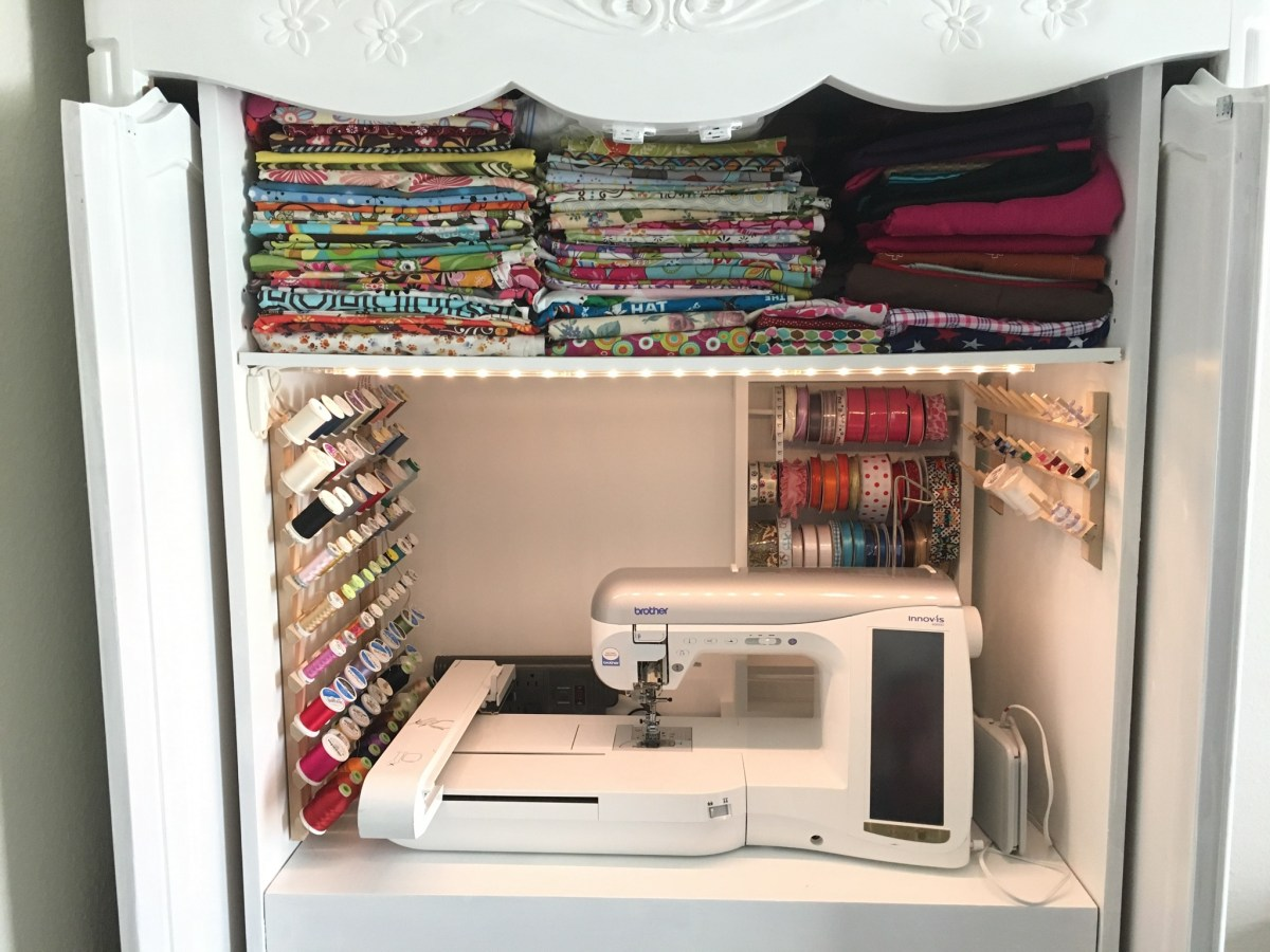 DIY Sewing Cabinet Extraordinaire