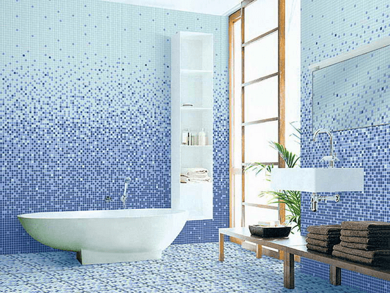 innovative bright blue bathroom | Bright Blue Bathroom Tile – Remodeling Cost Calculator