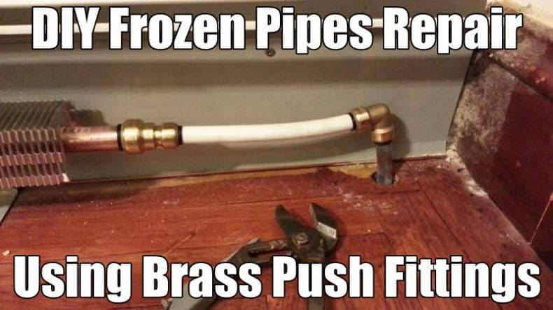 DIY Plumbing and Heating Pipes Repair without Soldering