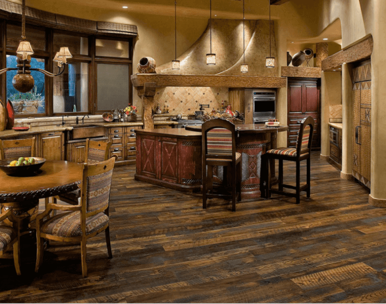 wood floors in kitchen metal outdoor cabinets 7 beautiful kitchens with antique flooring pictures a traditional