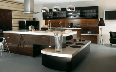 Unique Rectangular Shape Modern Kitchen Island