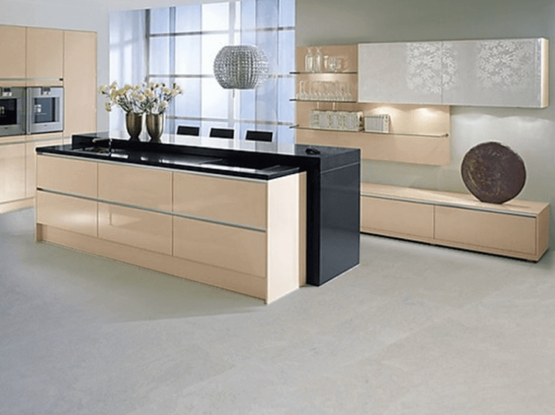 Grey Cork Flooring in a modern kitchen   Remodeling Cost ...