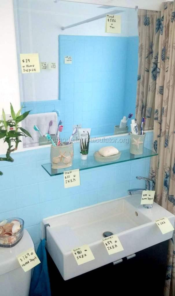 DIY $750 Dollar Bathroom Remodel - wall painting