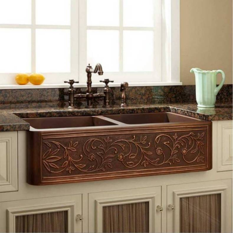 Copper Kitchen Sink Farmhouse Style | Remodeling Cost Calculator