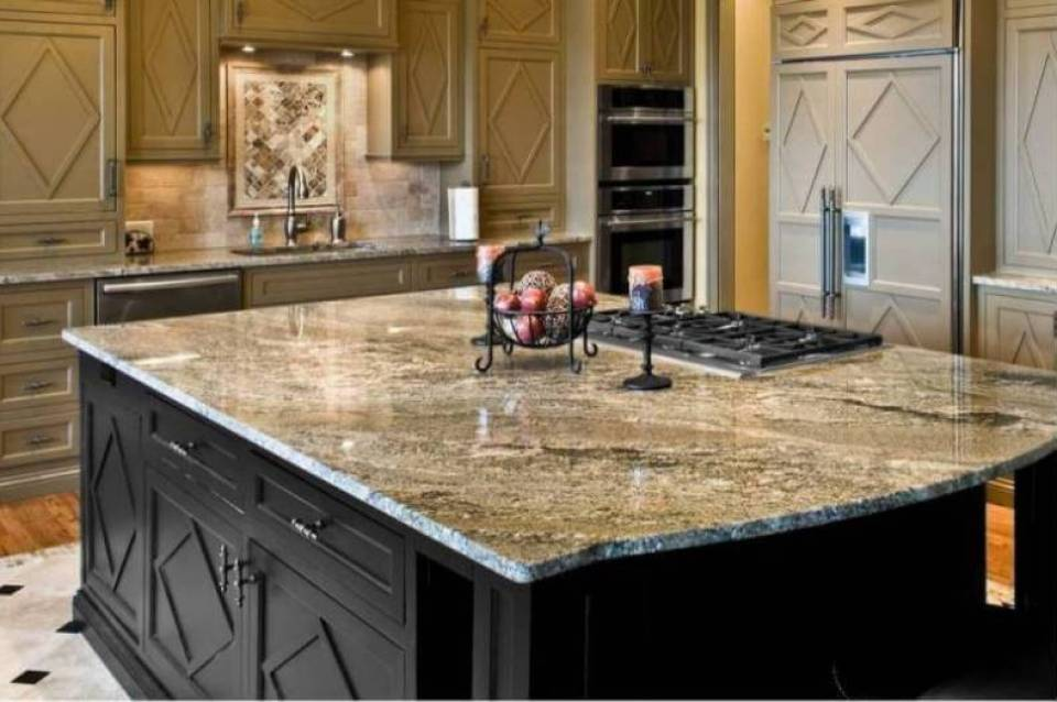 Engineered Quartz Countertops in a Traditional Style Kitchen
