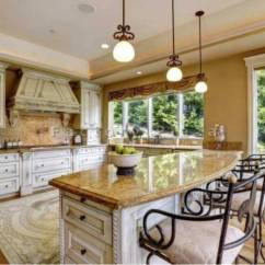 Tuscan Style Kitchen Modern Faucet Granite Countertops In A Luxury