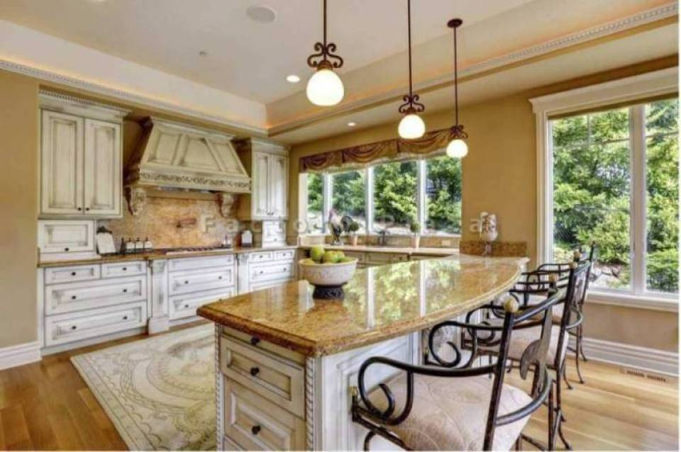 Granite Countertops in a Luxury Tuscan Style Kitchen