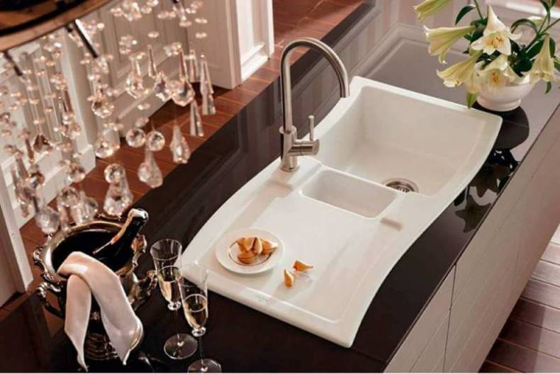 porcelain kitchen sink trash bags the best sinks 9 materials you will love