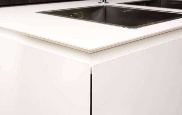 Fenix countertop together with kitchen cabinet