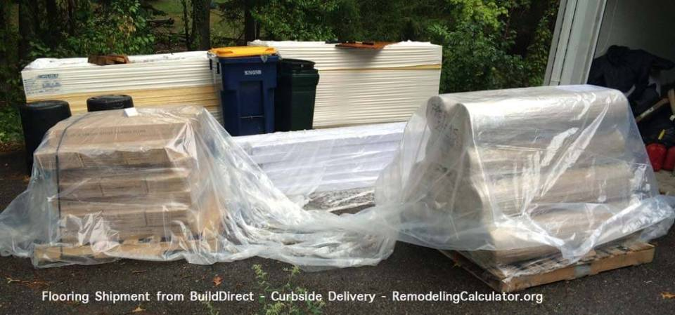 Flooring Shipment from BuildDirect - Curbside Delivery
