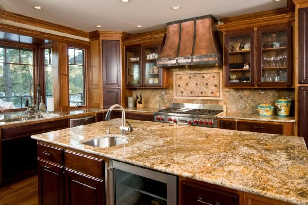 granite kitchen countertops pictures moen single handle faucet repair countertop estimator calculate the cost of new