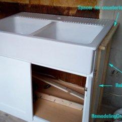 Kitchen Cabinet Painting Cost Mats Walmart Ikea Domsjo Sink In Non-ikea - Diy ...