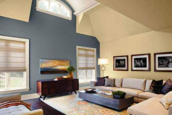 Painting a modern living room