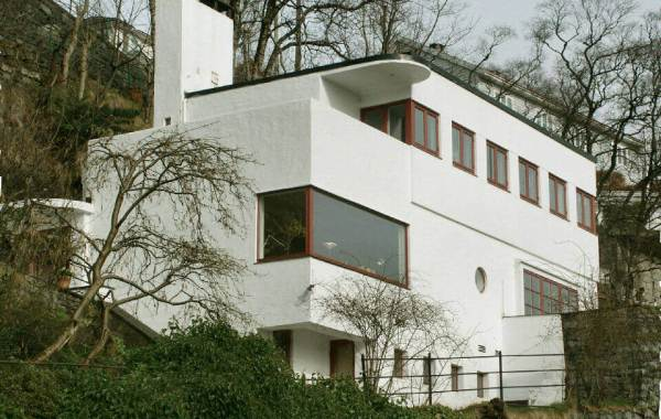 Synthetic stucco on a contemporary house