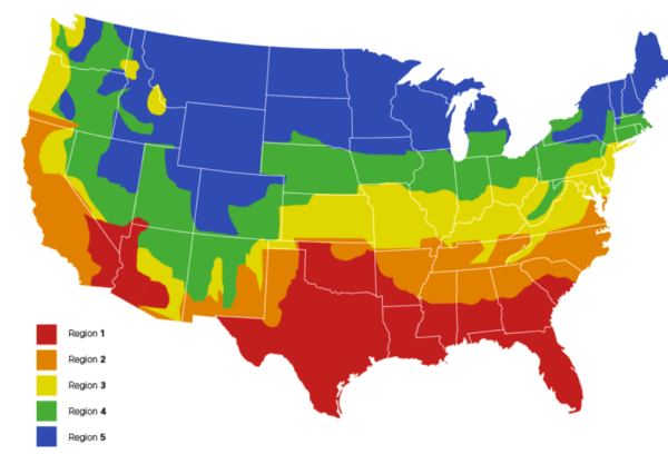 heat zone map