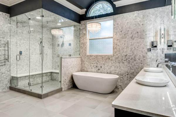 luxury master bath renovation