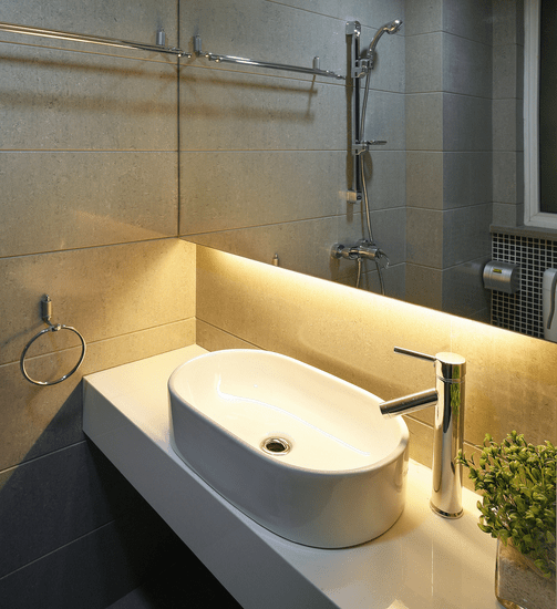 vanity with Strip-LED-Lights-for-bathroom-accent-lighting